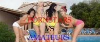 Porno Darstellerinnen gegen Amateure!!!